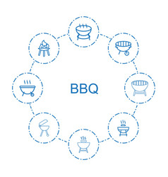 bbq icons vector image