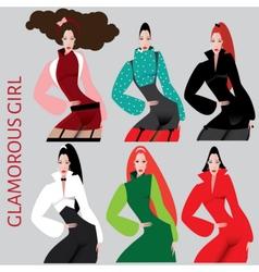 Beautiful women vector