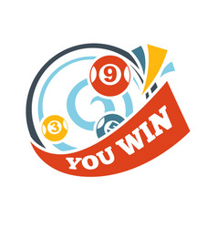 bingo lotto win lottery lucky numbers icon vector image