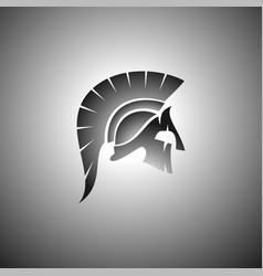 black spartan image vector image