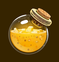 bottle of gold game icon of magic elixir vector image
