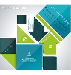Brochure flyer magazine cover web page poster vector