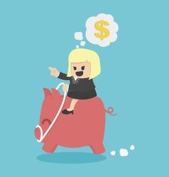 Businesswoman with financial goals vector