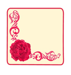 Button business card roses and ornaments vector image
