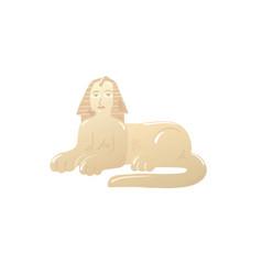 cartoon icon great sphinx in giza egypt vector image