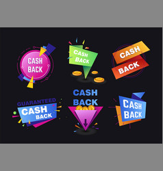 cash back service shopping and money return vector image