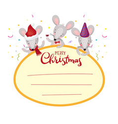 christmas frame for text label tag window vector image