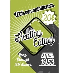 Color vintage nutritionist poster vector image