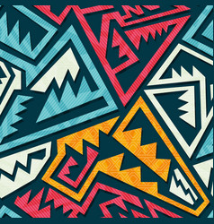 colored tribal pattern vector image