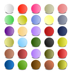 colorful circle with shadows vector image