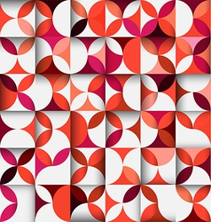 colorful floral shape pattern or geometric concept vector image