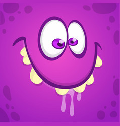 cool cartoon monster face vector image