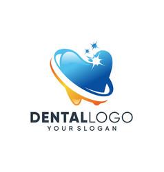 creative dental clinic logo vector image