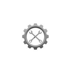 creative gear wrench repair bike icon logo vector image