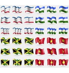 Crimea Bashkortostan Jamaica Vietnam Set of 36 vector