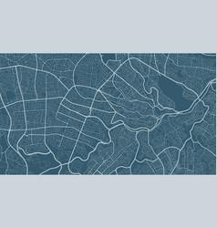Dark cyan background map amman city area streets vector