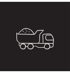 Dump truck sketch icon vector image