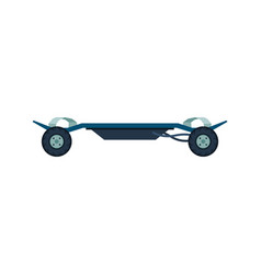 Electric skateboard personal eco friendly vector