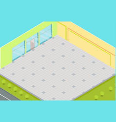 empty supermarket interior isometric vector image