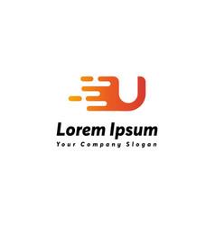 Fast letter u logo icon design vector