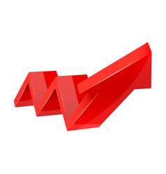 Financial trend up rising indication arrow red vector