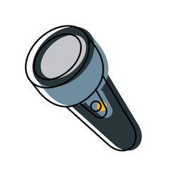 flashlight isolated symbol vector image