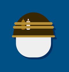 Flat icon design collection military helmet vector