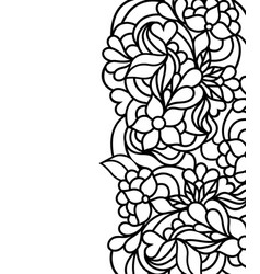 floral border on white background vector image
