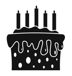gift cake icon simple style vector image