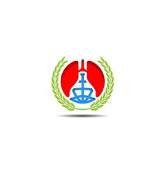 globe lung logo vector image