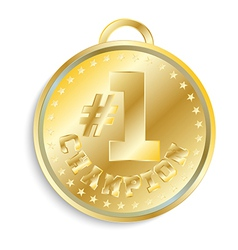 gold medal for first place vector image