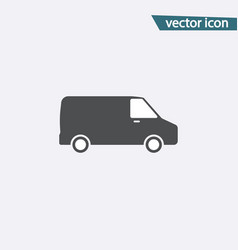 gray van icon isolated on background modern simpl vector image