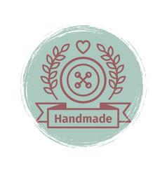 grunge handmade logo design vector image