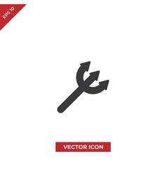 halloween trident icon vector image