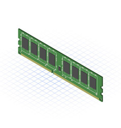 Isometric RAM vector