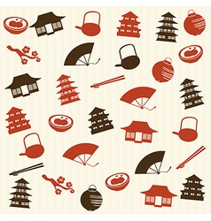 Japanese seamless pattern 2 vector image