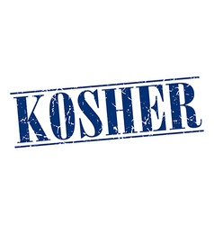 Kosher blue grunge vintage stamp isolated on white vector
