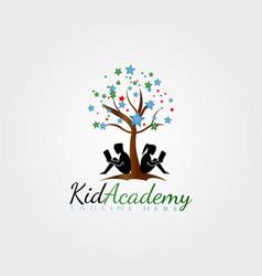 Logo design children reaching for stars child vector