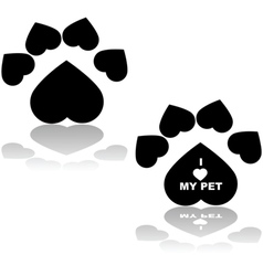 Love my pet vector image