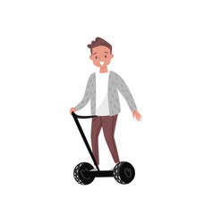 man riding segway eco friendly alternative vector image