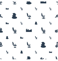 Massage icons pattern seamless white background vector