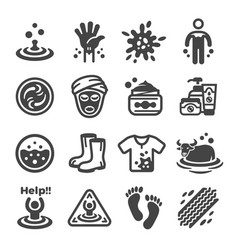 Mud icon vector