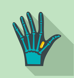Nfc hand implant icon flat style vector