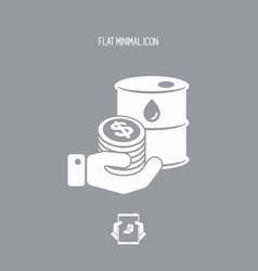 oil price flat icon vector image