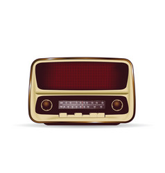 Old and retro radio in brown color vector
