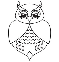 Owl icon3 resize vector image vector image
