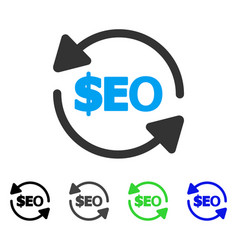 Refresh seo flat icon vector