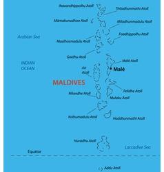 Republic of the Maldives - map vector