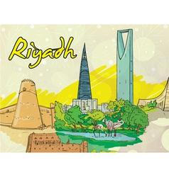 Riyadh doodles vector