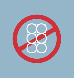 Say no to plastic cup holder poster pollution vector